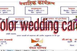 color wedding card metter